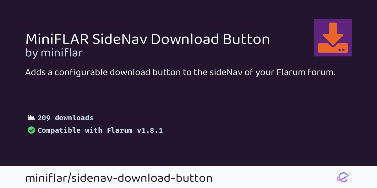miniFLAR SideNav Download Button